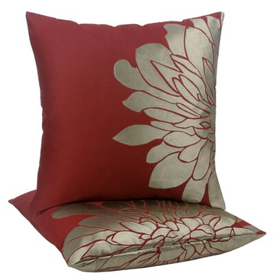 Blissliving Home Gemini Pillow in Red