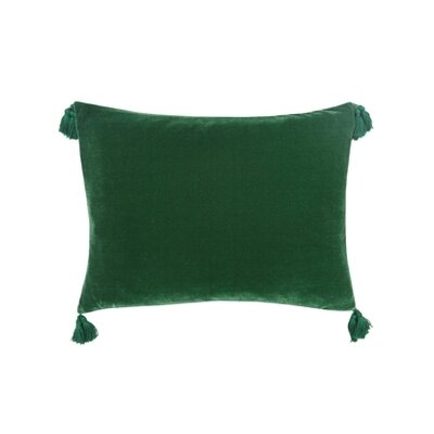 Blissliving Home Addison Hunter Velvet and Linen Pillow
