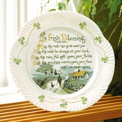Belleek Harp Irish Blessing Plate