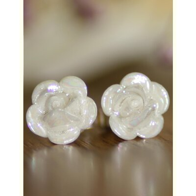Belleek Rose Mother of Pearl Earrings Set (Set of 2)