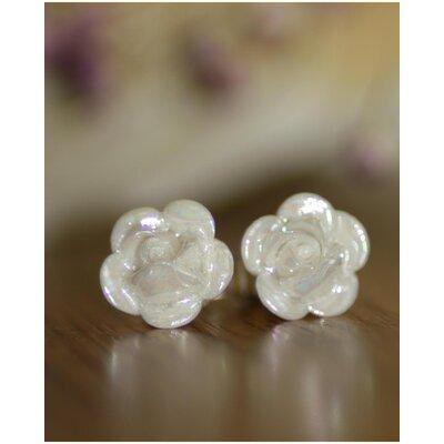 Rose Mother of Pearl Earrings Set (Set of 2)