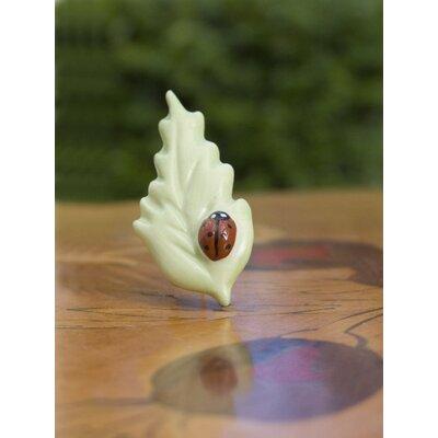 Ladybird Leaf Brooch