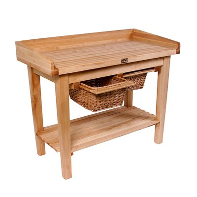 John Boos BoosBlock Prep Table with Butcher Block Top