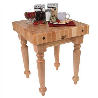 John Boos BoosBlock Saratoga Prep Table with Butcher Block Top
