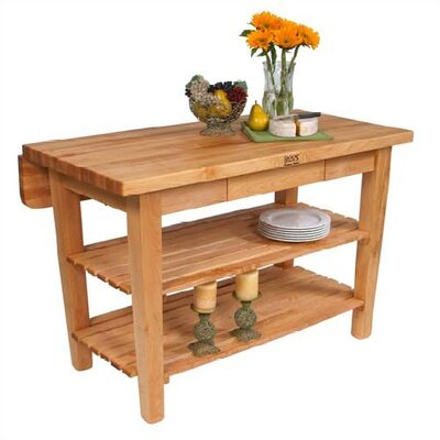 John Boos BoosBlock Kitchen Island with Butcher Block Top