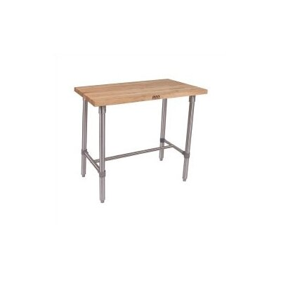 John Boos Cucina Americana Classico Prep Table with Wood Top