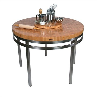 Metropolitan Designer Oasis Prep Table with Wood Top