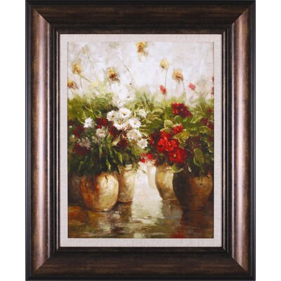 Art Effects Red White And Gold Framed Artwork