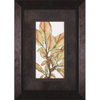 Small Gilded Leaves I and II by Jennifer Goldberger Framed Graphic Art