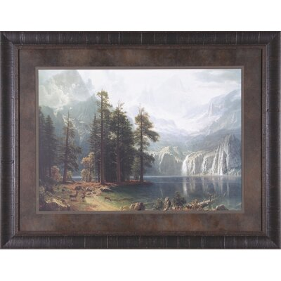 Sierra Nevada and Sierra Nevada in California by Albert Bierstadt Framed Painting Print