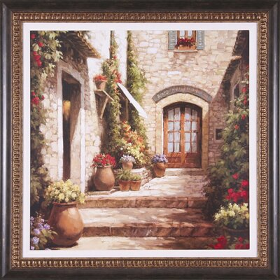 Art Effects Sunlit Courtyard Framed Artwork