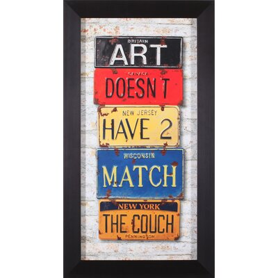 Art Effects Couch Framed Artwork