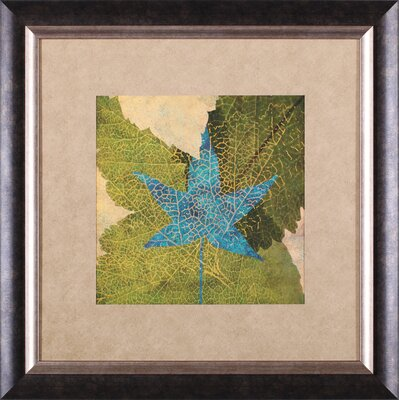Art Effects Teal Leaf II Framed Artwork