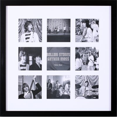 Rolling Stones Gather Moss and Beatlemania Grips Gotham by British Pathe Framed Photographic Print