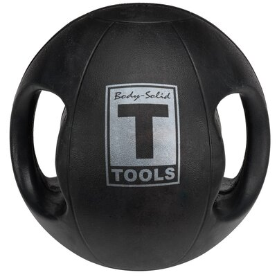Body Solid 20 lbs Dual Grip Medicine Balls in Black