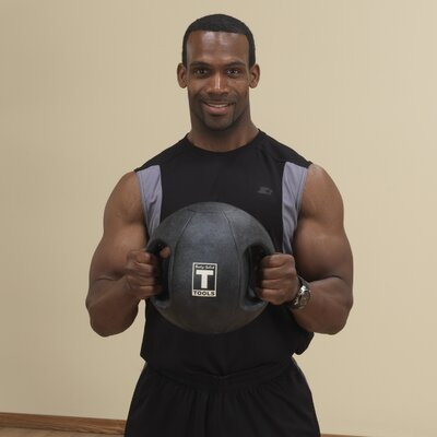 Body Solid 8 lbs Dual Grip Medicine Balls in Black