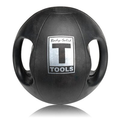 Body Solid 18 lbs Dual Grip Medicine Balls in Black