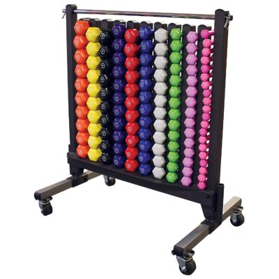Body Solid Rack with Vinyl Dumbbell