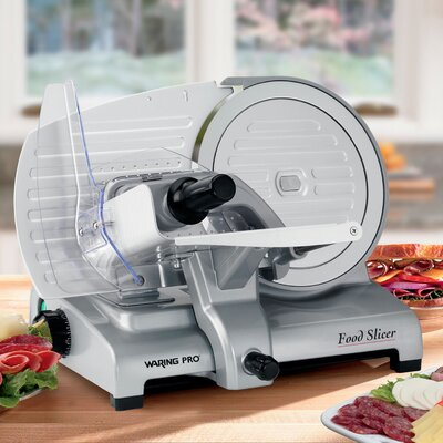 "Waring Electric Food Slicer with 8.5"" Cutting Blade"