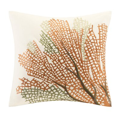 Summer Beach Square Cotton Pillow