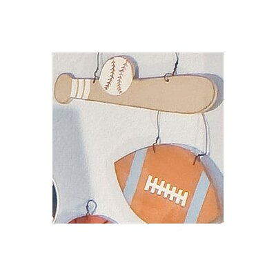All Star Baseball Bat and Ball Wall Hanging