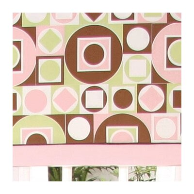 Brandee Danielle Modern Baby Girl Caffe Tab Top Tailored Curtain Valance