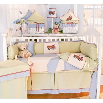 Brandee Danielle Fire Engine Crib Bedding Collection