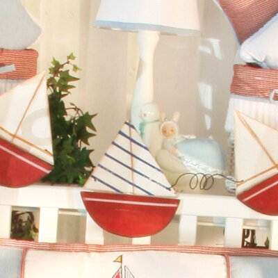 Sail Away White Candlestick Lamp