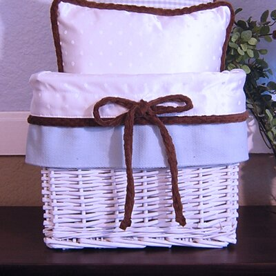 Blue Chocolate Wicker Basket