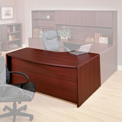 OSP Furniture Napa Left Corner Bow Front Executive Desk