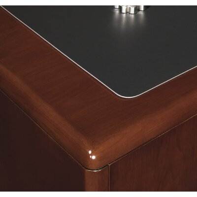 OSP Furniture Sonoma L-Shaped Straight Front Executive Desk
