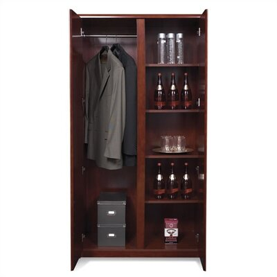 OSP Furniture Sonoma Wardrobe Cabinet with Four Shelves
