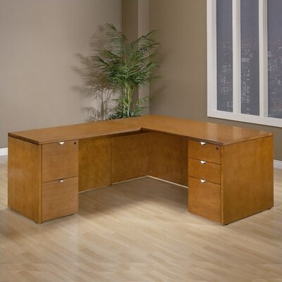 Kenwood L-Shaped Executive Desk with Straight Front