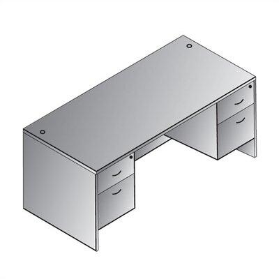 Napa Double Executive Desk with Optional Pedestal