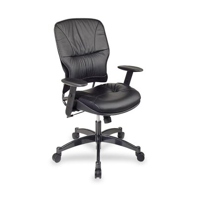 OSP Furniture Mid Back Leather Managerial Chair