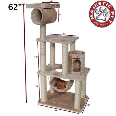 "Majestic Pet Products 62"" Casita Fur Cat Tree"