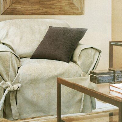 Melrose Home Mozart Loosefit Chair Skirted Slipcover