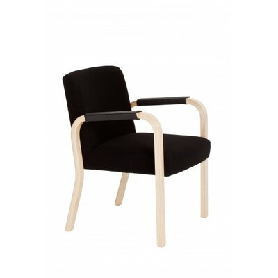 Artek 46 Arm Chair with Covered Leather Armrests