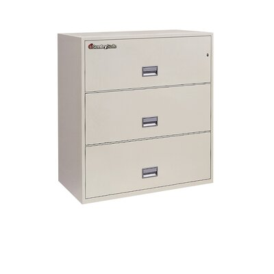 "Sentry Safe Sentry®Safe 35.8"" W x 20.5"" D 3-Drawer Fireproof Key Lock Letter File Safe"