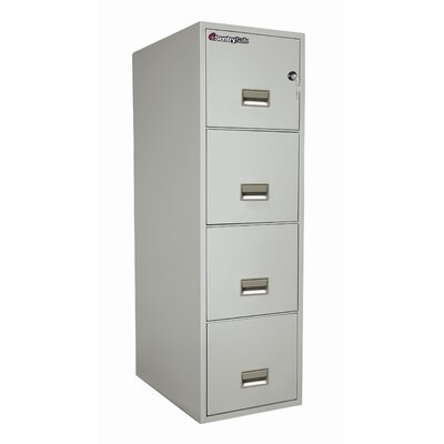 "Sentry Safe 16.6"" W x 25"" D 4-Drawer Fireproof Key Lock Letter File Safe"