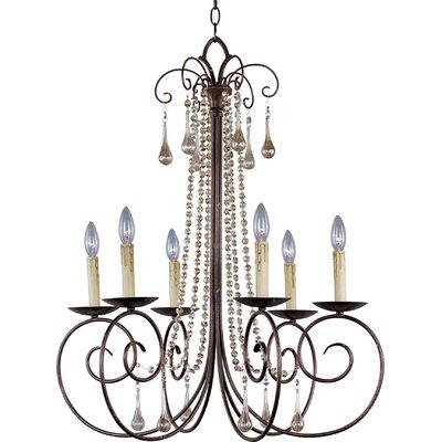 ET2 Adriana 6 Light Candle Chandelier