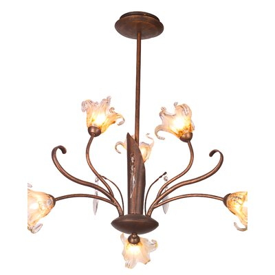 ET2 Bloom 6 Light Chandelier