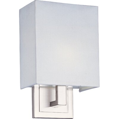ET2 Edinburgh I  Wall Sconce with White Glass in Satin Nickel