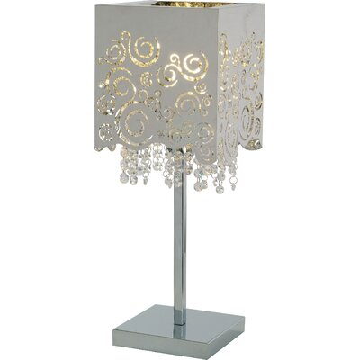 "Wildon Home ® Fiori 20.75"" H Table Lamp with Square Shade"