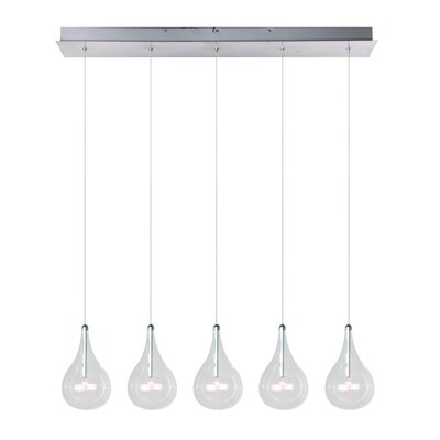Wildon Home ® Sklo 5 - Light Linear Pendant