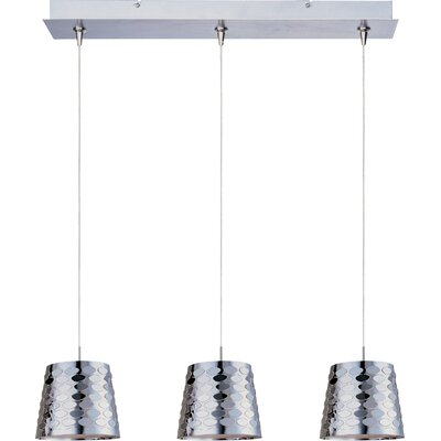 "Wildon Home ® Minx 5"" 3 Light RapidJack Linear Pendant"