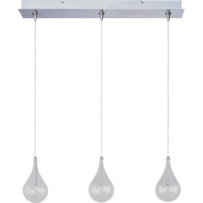 Wildon Home ® Minx 3 Light RapidJack Linear Pendant