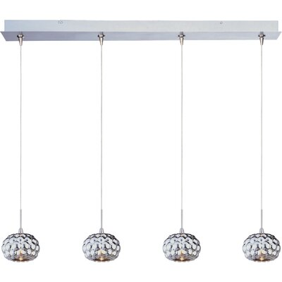 "Wildon Home ® Minx 3.75"" 4 Light RapidJack Linear Pendant"