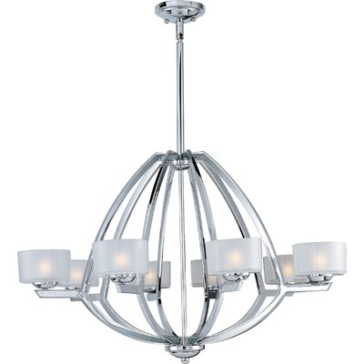 Wildon Home ® Vortex 8 Light Foyer Pendant