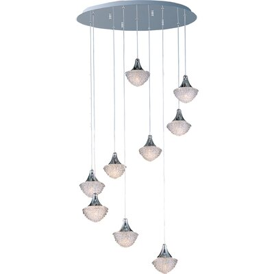ET2 Blossom 9 Light Pendant